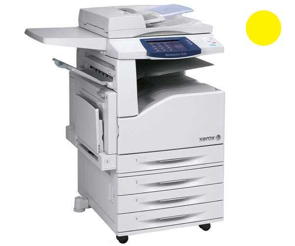 Заправка желтого картриджа для Xerox WorkCentre 7425 / 7428 / 7435 с заменой чипа