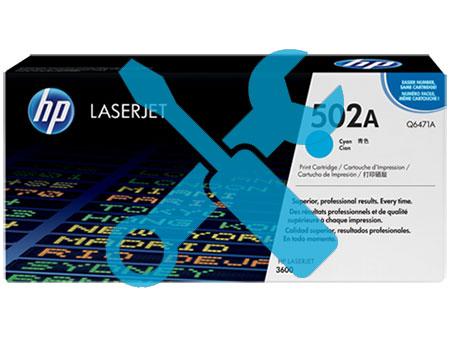Заправка синего картриджа Q6471A (502) для HP Color Laser Jet 3600 / 3800 / CP3505