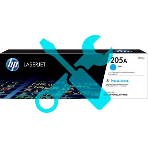 Заправка картриджа HP LaserJet 205A голубой CF531A для  Pro M180n / Pro M181fw с заменой чипа