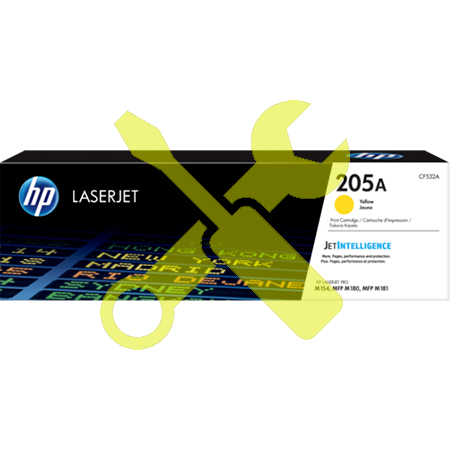 Заправка картриджа HP LaserJet 205A желтый  CF532A для  Pro M180n / Pro M181fw с заменой чипа