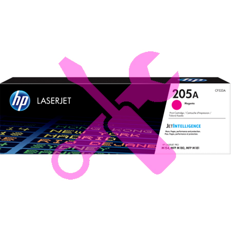 Заправка картриджа HP LaserJet 205A пурпурный  CF533A для  Pro M180n / Pro M181fw с заменой чипа