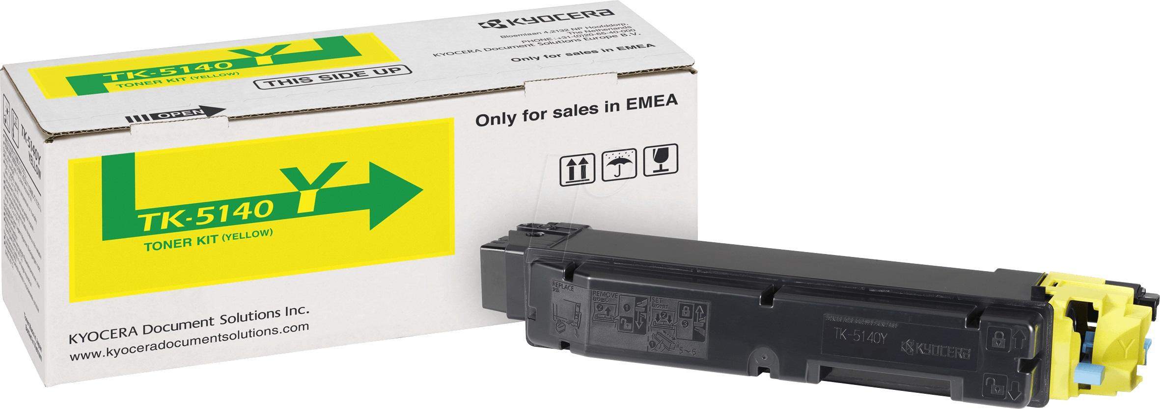 Заправка картриджа Kyocera TK-5140Y для  Ecosys M6030 / M6530 / P6130