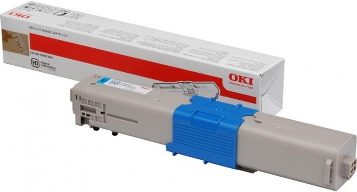 Тонер-картридж  OKI голубой TONER-C-C332, MC363-1.5K-NEU