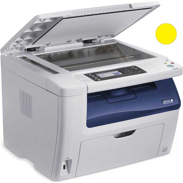 Заправка желтого  картриджа Xerox Phaser 6020 / 6022 / WC 6025 / 6027 с заменой чипа