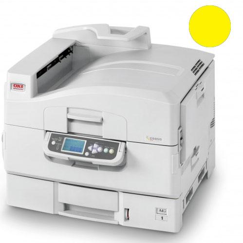 Заправка желтого картриджа для OKI C9600 / С9650 / С9800 / С9850 с заменой чипа