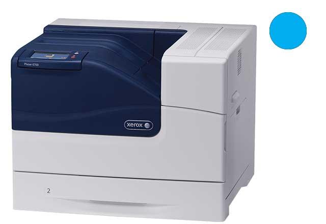 Заправка синего картриджа Xerox Phaser 6700 с заменой чипа