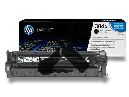 Заправка картриджа CC530A (304A) черный для HP Color LaserJet CP2025 / CM2320 с заменой чипа