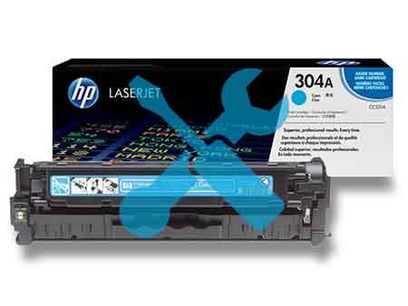 Заправка картриджа CC531A (304A) синий для HP Color LaserJet CP2025 / CM2320 с заменой чипа