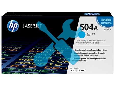 Заправка картриджа CE251A (504A) синий для HP Color LaserJet CM3530 / CP3525 с заменой чипа