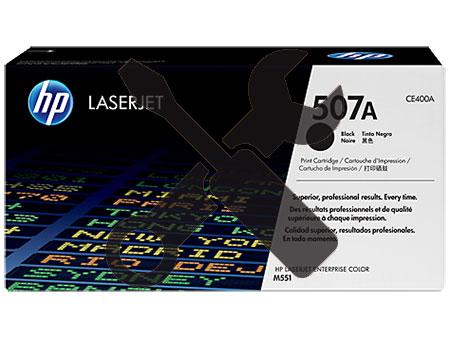 Заправка черного картриджа CE400A 507A для HP LaserJet Enterprise 500 color M551dn / M551n / M551xh / M575f / M570dn