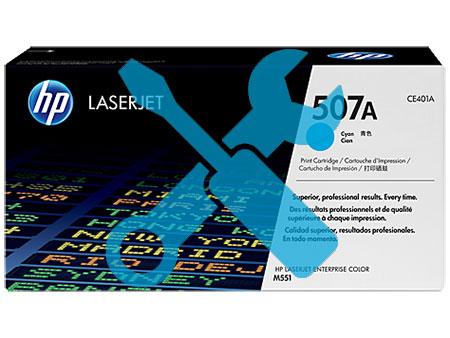 Заправка синего картриджа CE401A 507A для HP LaserJet Enterprise 500 color M551dn / M551n / M551xh / M575f / M570dn