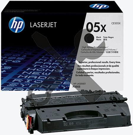 Заправка картриджа CE505X для HP LaserJet P2055d / P2055dn с заменой чипа