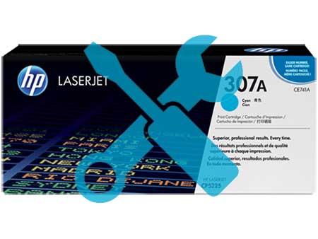Заправка картриджа HP CE741A (307A) для HP Color LaserJet Professional CP5225  с заменой чипа