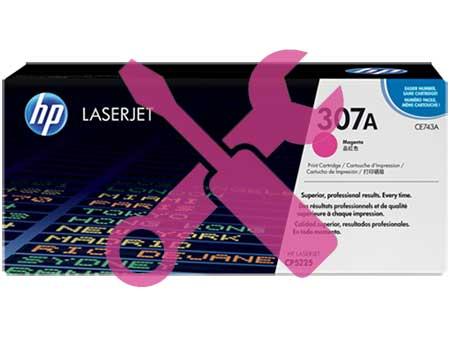 Заправка картриджа HP CE743A (307A) для HP Color LaserJet Professional CP5225  с заменой чипа