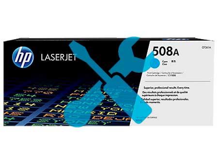 Заправка синего картриджа HP 508A ( CF361A ) для Enterprise M552 / M553 с заменой чипа