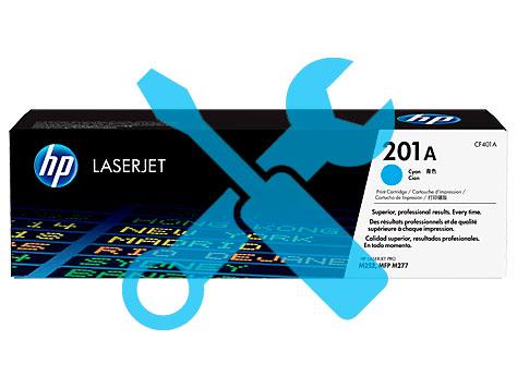 Заправка синего картриджа 201A CF401A для HP Color LaserJet Pro M252 / M277 с заменой чипа