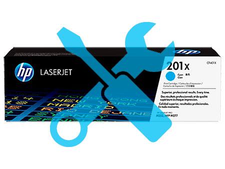 Заправка синего картриджа 201X  CF401X для HP Color LaserJet Pro M252  / M277 с заменой чипа