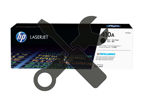 Заправка картриджа CF410A для HP Color LaserJet M452DN / M477 с заменой чипа