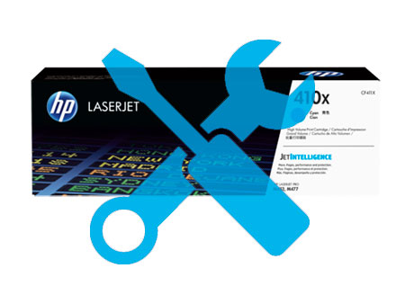 Заправка картриджа CF411X для HP Color LaserJet M452DN / M477 с заменой чипа