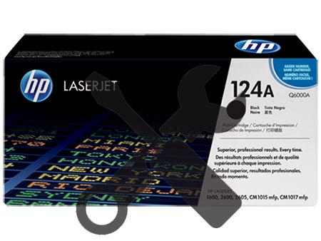 Заправка картриджа Q6000A (124A) черный для HP Color LaserJet 1600 /2600 /2600n / 2605 / 2605dn / 2605dtn / CM1015 MFP / CM1017 MFP