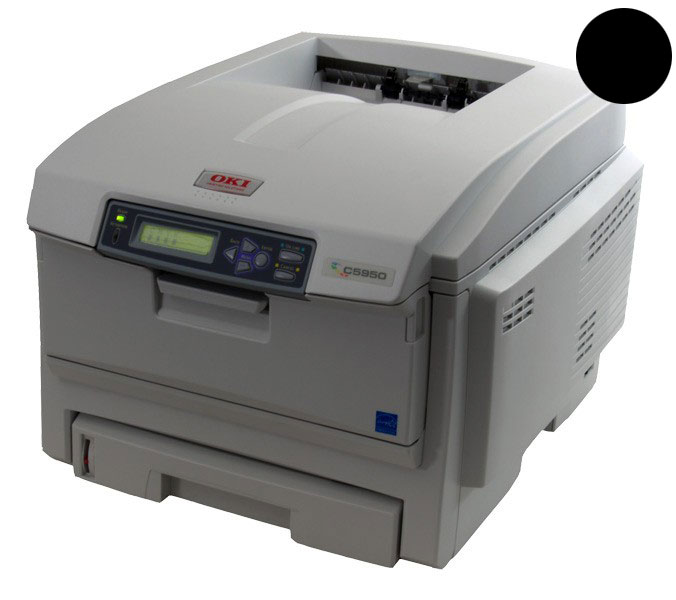 Заправка черного картриджа для OKI C5850 / C5950 / MC560 с заменой чипа